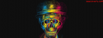 3D ColourFull Skull Illusion