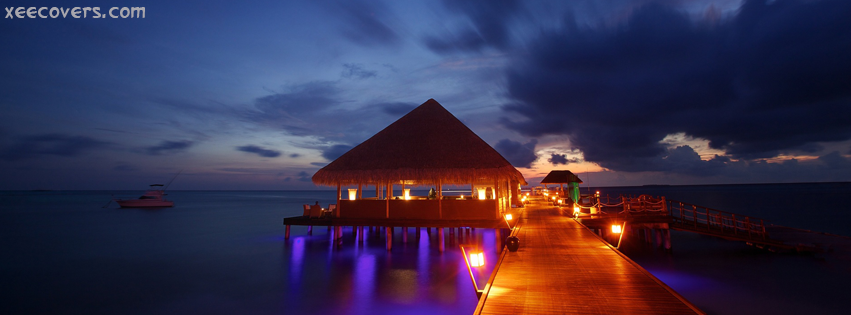 A Beautiful House On Ocean facebook cover photo hd