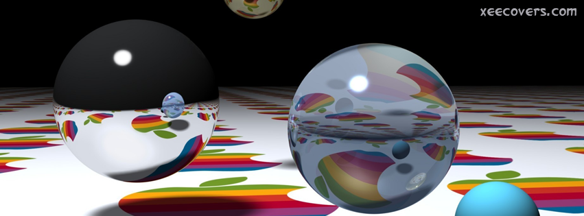 Apple Logo In Bubbles FB Cover Photo HD