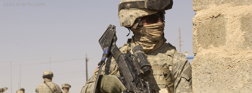 Army Soldier facebook cover photo hd