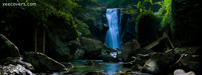 Awesome Greenery And Water Falls FB Cover Photo HD