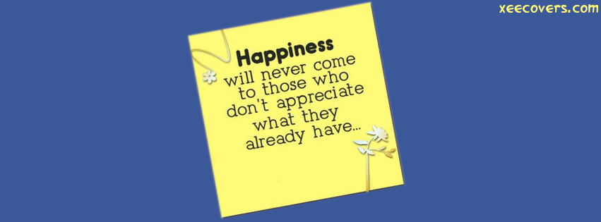 Be Happy In Every Codition FB Cover Photo HD