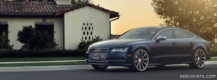 Beautiful Audi Car (Grey) FB Cover Photo HD