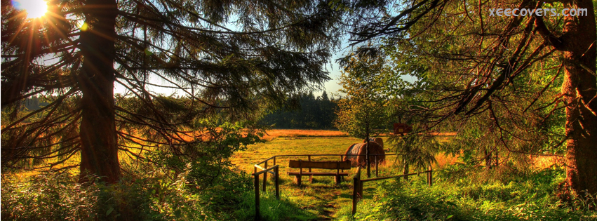 Beautiful Fields And Sunset FB Cover Photo HD