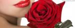 Beautiful Lips With Beautiful Rose
