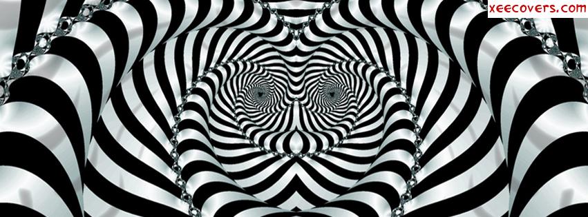 Black And White Illiusion facebook cover photo hd