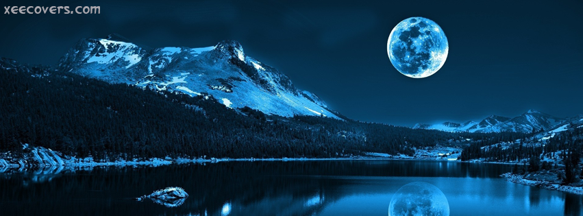 Blue Moon facebook cover photo hd