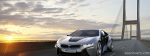 Bmw I8 Concept Car And Sunset