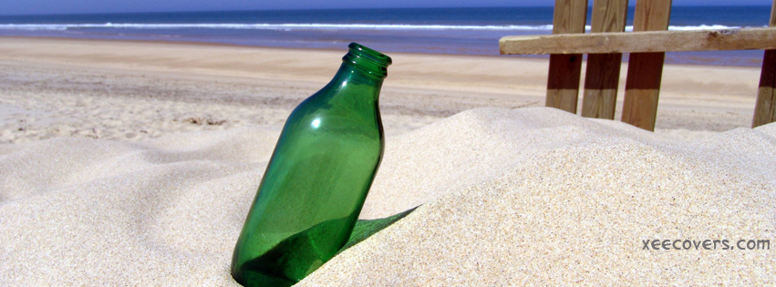 Bottle In Sand FB Cover Photo HD