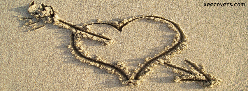 Broken Heart Made In Sand FB Cover Photo HD