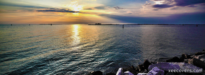 Clowdy Sky And A Wonderful Sunset FB Cover Photo HD