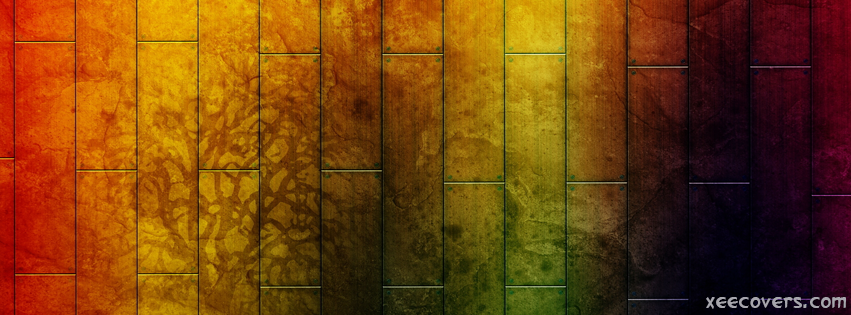 Colorful Art On Wood FB Cover Photo HD