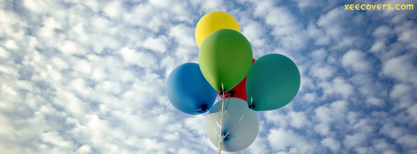 Colorful Balloons FB Cover Photo HD