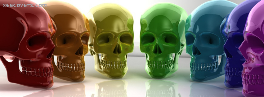 Colorful Skulls FB Cover Photo HD