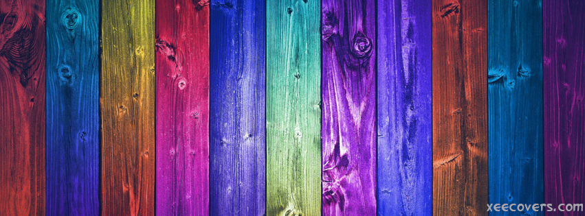 Colorful Wood Pieces FB Cover Photo HD