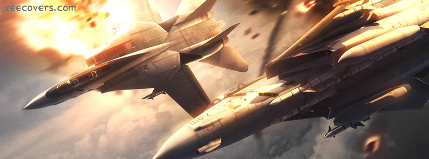 Fighter Jet Crashed facebook cover photo hd