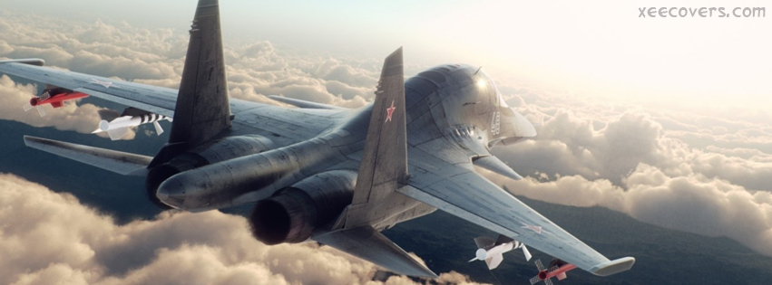 Fighter Jet SU 34 facebook cover photo hd