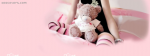 Girl Sitting Lonely With Her Teddy Bear