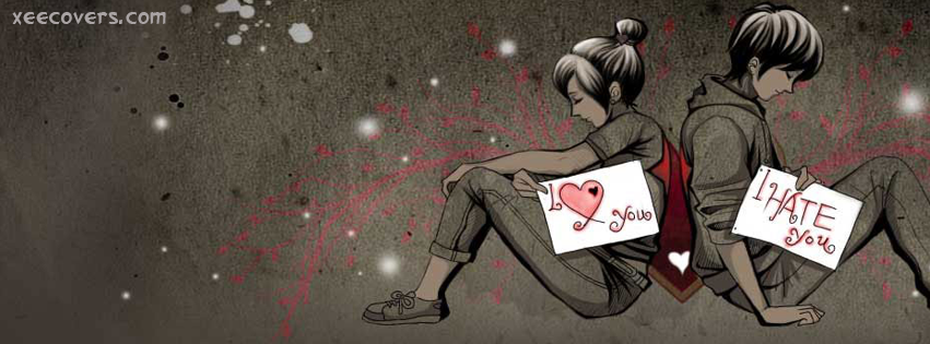 I Hate My Girl Friend But She Loves Me FB cover Photo Xee FB covers