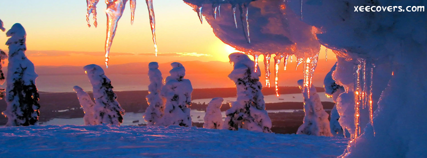 Ice Is Shinning With The light Of Sun facebook cover photo hd