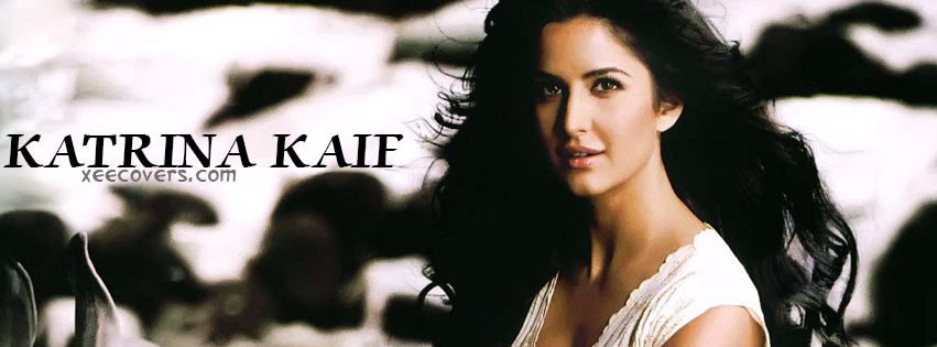Katrina Kaif In White FB Cover Photo HD