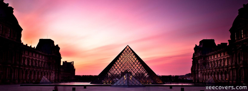 Louvre Sunset facebook cover photo hd