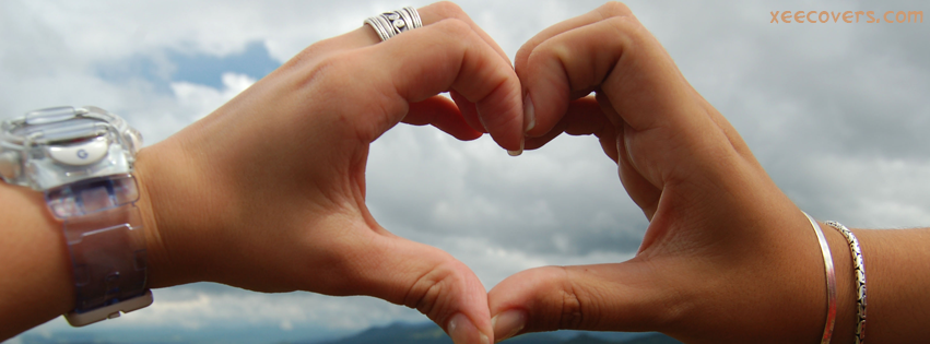 Lovers Hands Making A Heart FB Cover Photo HD