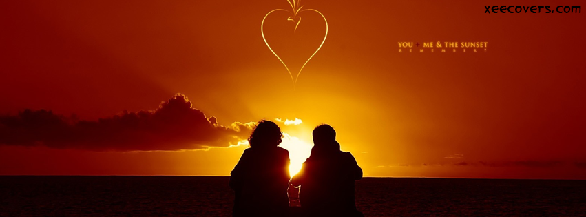 Lovers In Sunset facebook cover photo hd