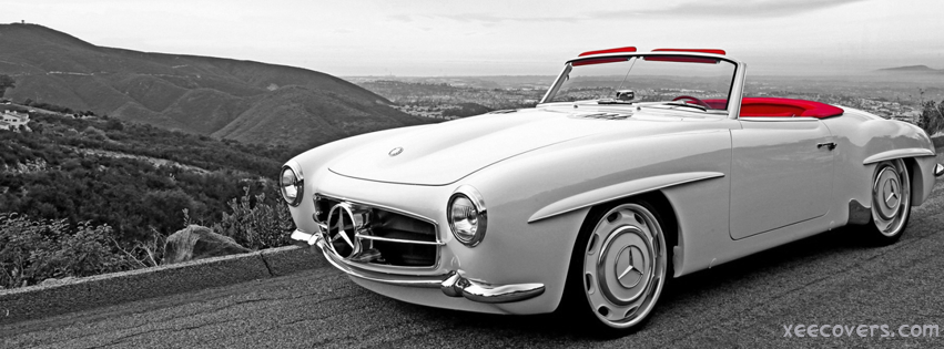 Mercedes Car Parked on Road Side FB Cover Photo HD