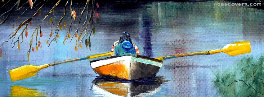 Painting Of A Man In Ship FB Cover Photo HD