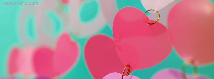 papers hearts hanging fb cover photo xee fb covers