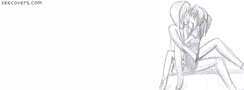 Pencil Kiss Art FB Cover Photo HD
