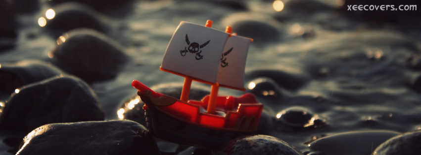 Pirates Tiny Boat on Rocks FB Cover Photo HD