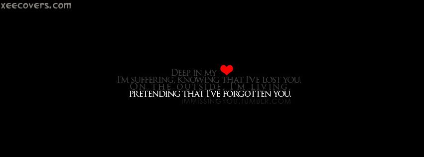 Pretending That L've Forgotten You. FB Cover Photo HD