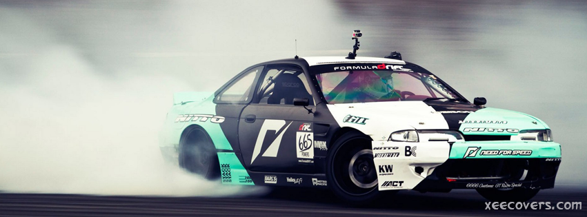Racing Car With Drifts FB Cover Photo HD