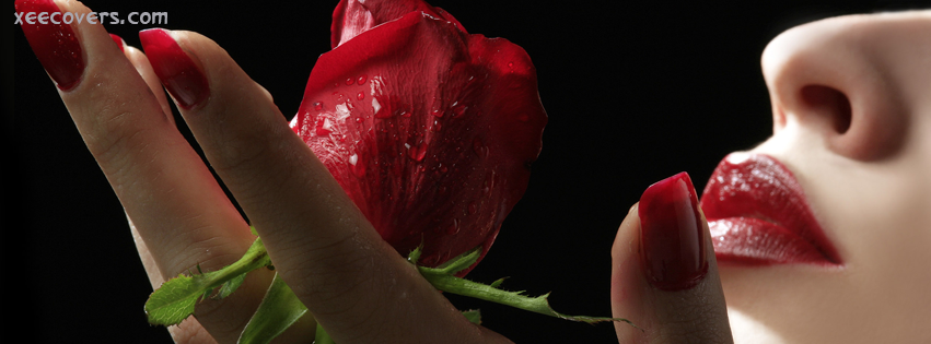 Rose And Red Nails facebook cover photo hd