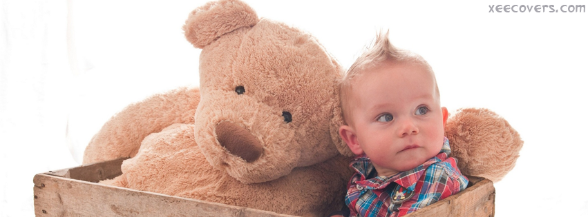 Small Kid With His Teddy Bear FB Cover Photo HD
