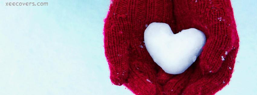 Snow Heart FB Cover Photo HD