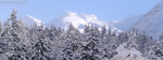 Snowy Mountains And Trees