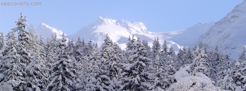 Snowy Mountains And Trees FB Cover Photo HD
