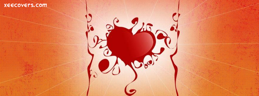 Stylish Heart facebook cover photo hd