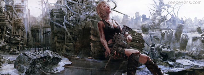 Tired Soldier Girl facebook cover photo hd