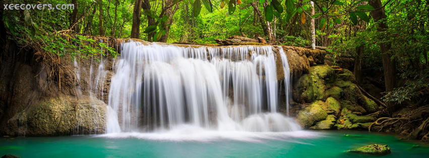 Water Falls Landscape FB Cover Photo HD