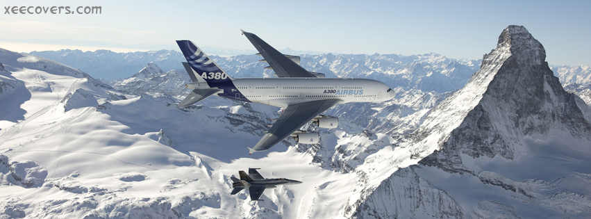 Airbus A380 FB Cover Photo HD
