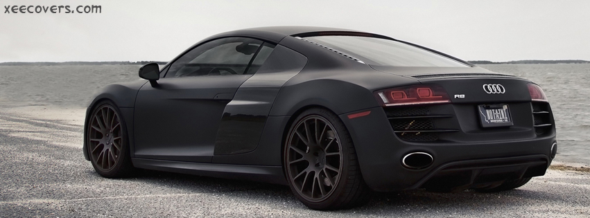 Audi R8 Black facebook cover photo hd