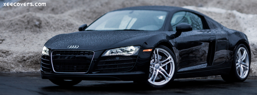 Black audi R8 facebook cover photo hd