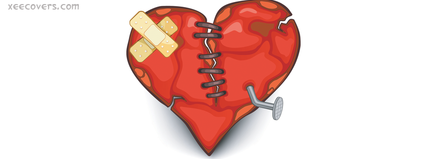 Broken Heart Clipart FB Cover Photo HD