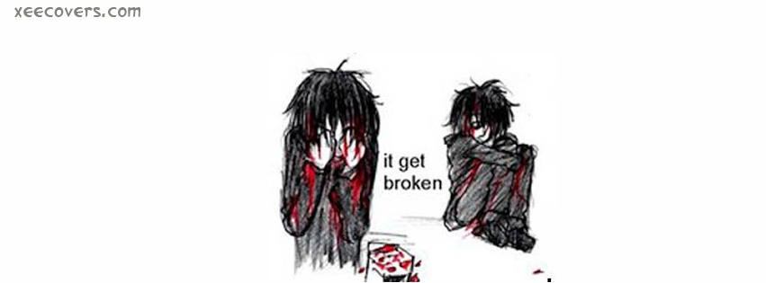Broken Heart Emo facebook cover photo hd