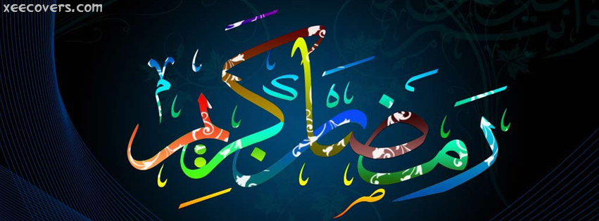 Colorful Ramzan Kareem Design FB Cover Photo HD