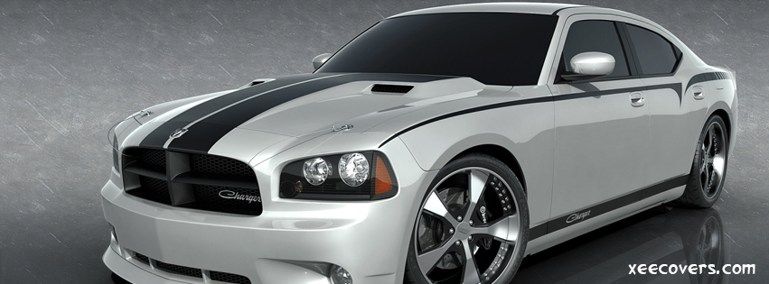 Dodge Charger In White FB Cover Photo HD